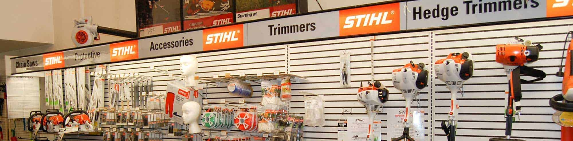 Stihl equipment at Shively Hardware